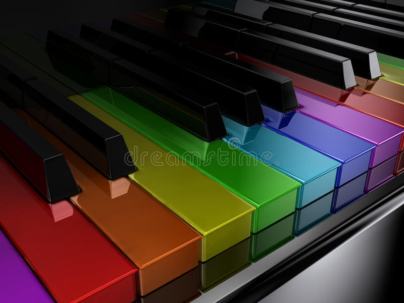 Download The rainbow piano stock illustration. Image of cultural - 21221712