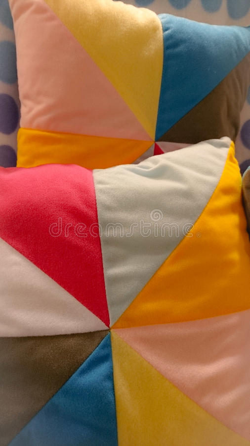 Rainbow Pillow. Modern, pillow, colour royalty free stock image