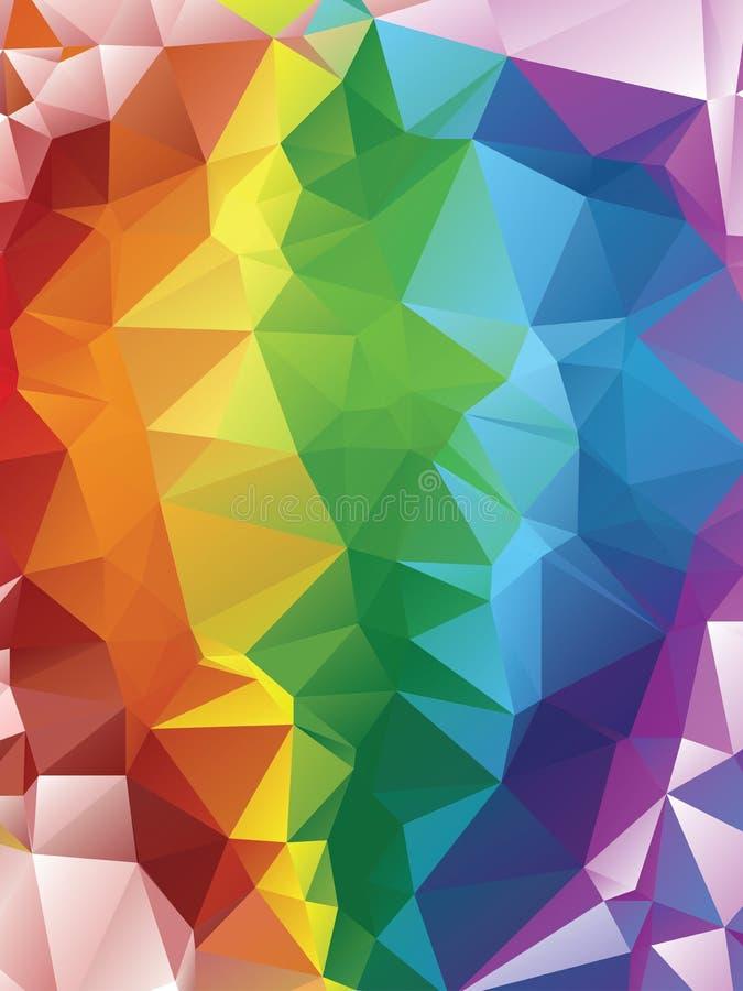 Rainbow Polygonal Background royalty free illustration