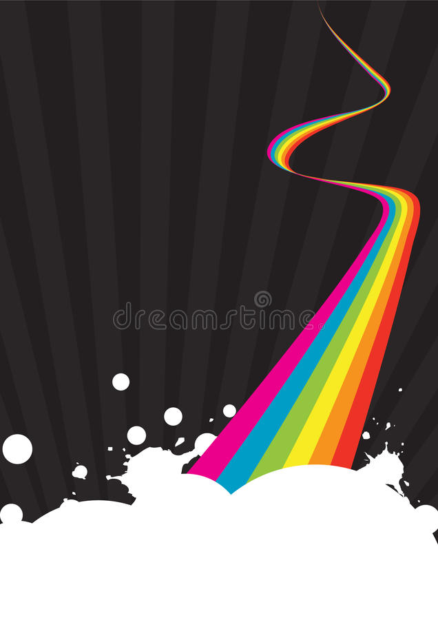 Download Rainbow poster stock vector. Image of letter, design - 16530390