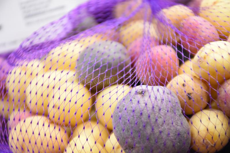 Rainbow potato stock image royalty free stock photos