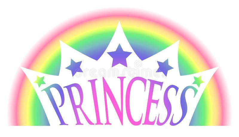 Rainbow Princess Crown royalty free illustration