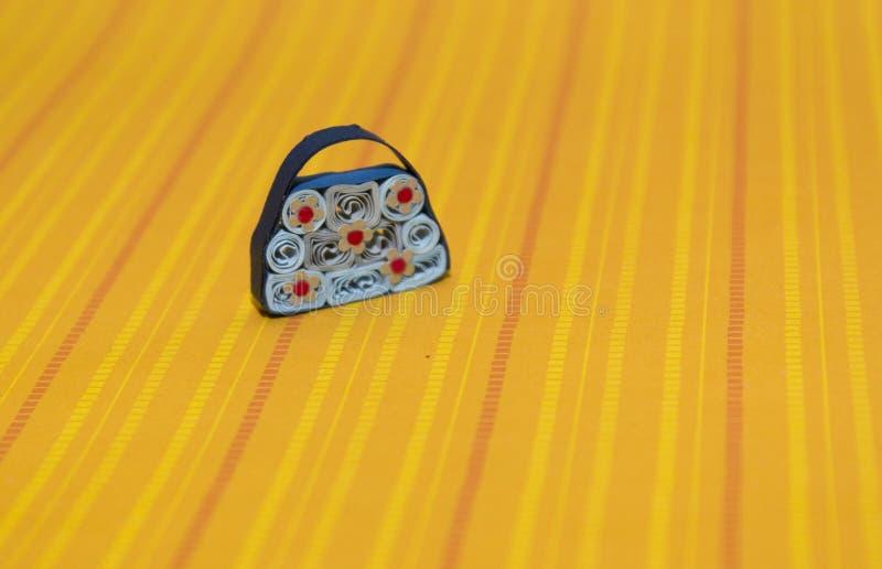Rainbow purse stock image