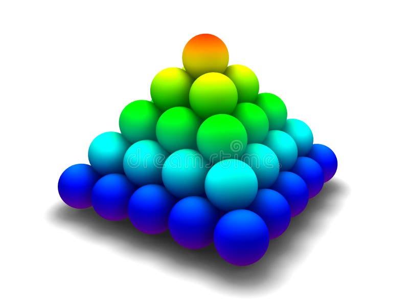 Rainbow pyramid vector illustration