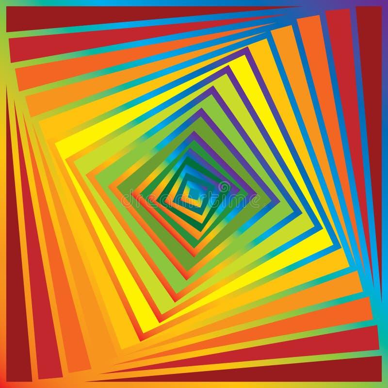 Rainbow pyramid royalty free stock photos