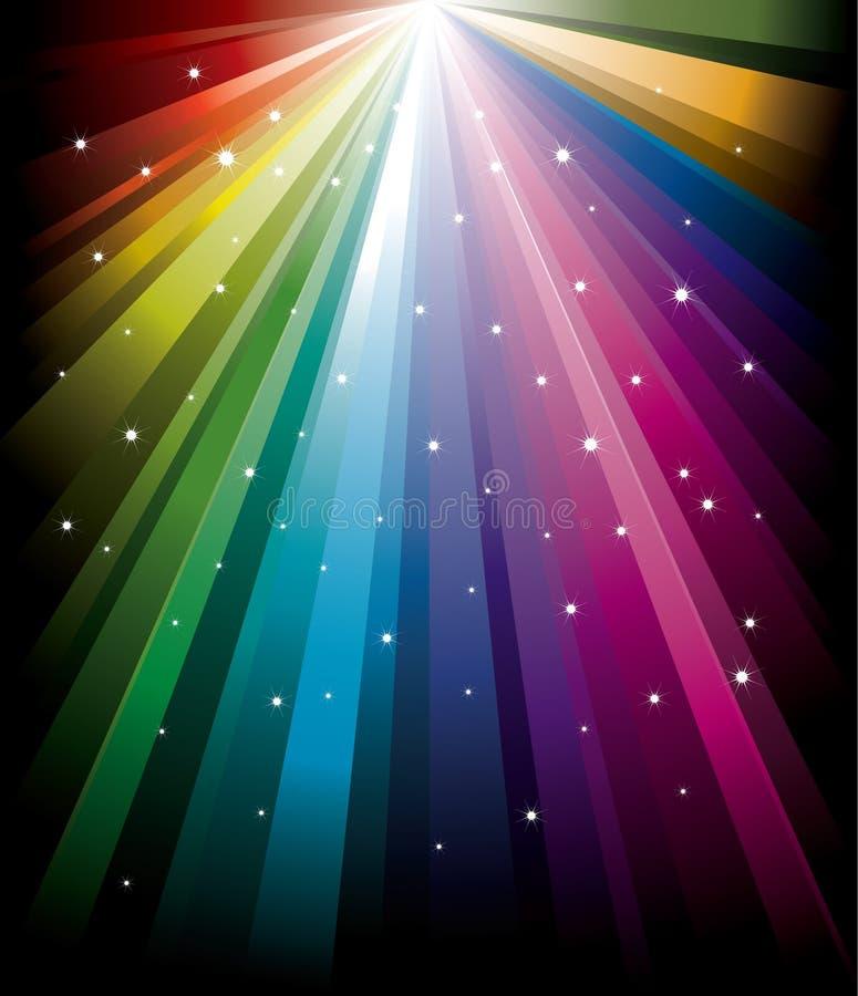 Rainbow radiale magico illustrazione vettoriale