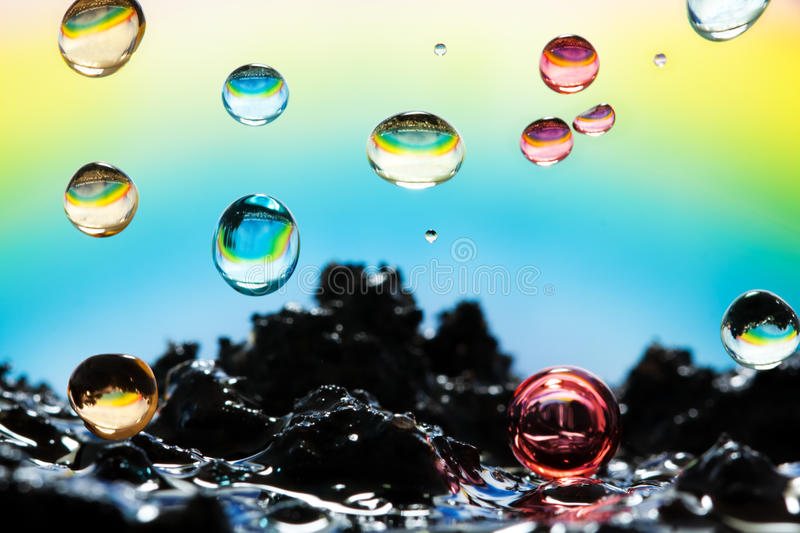 Download Rainbow rain stock photo. Image of color, green, action - 16807276