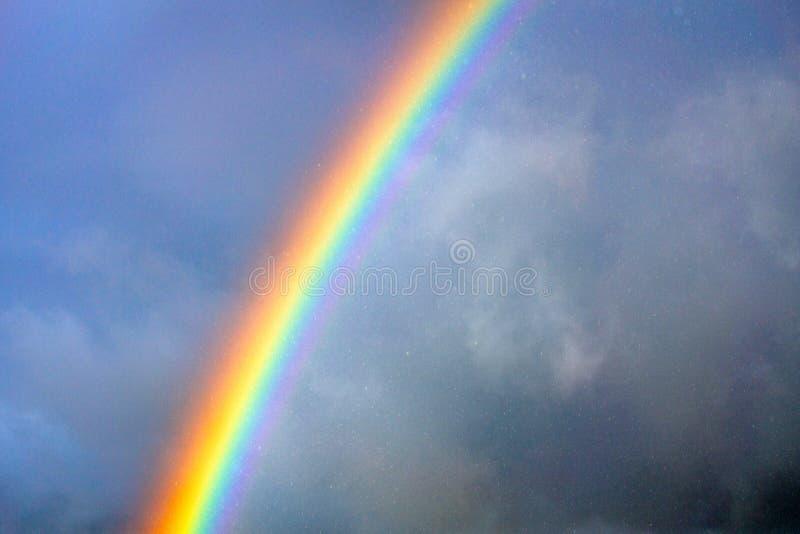 Rainbow in the rain. stock photography