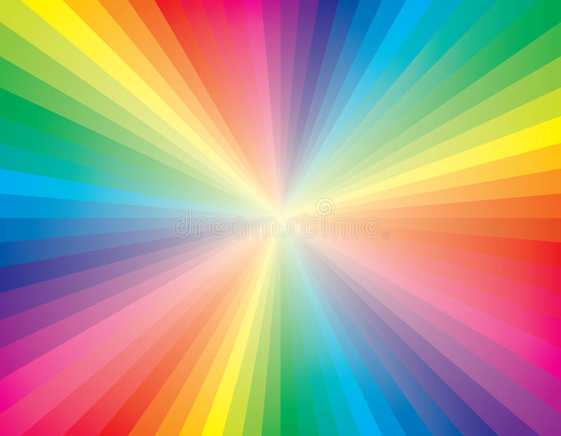 Rainbow rays royalty free illustration