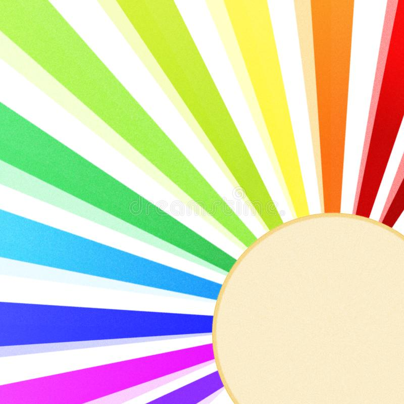 Rainbow Sun Corner Greeting Card royalty free illustration