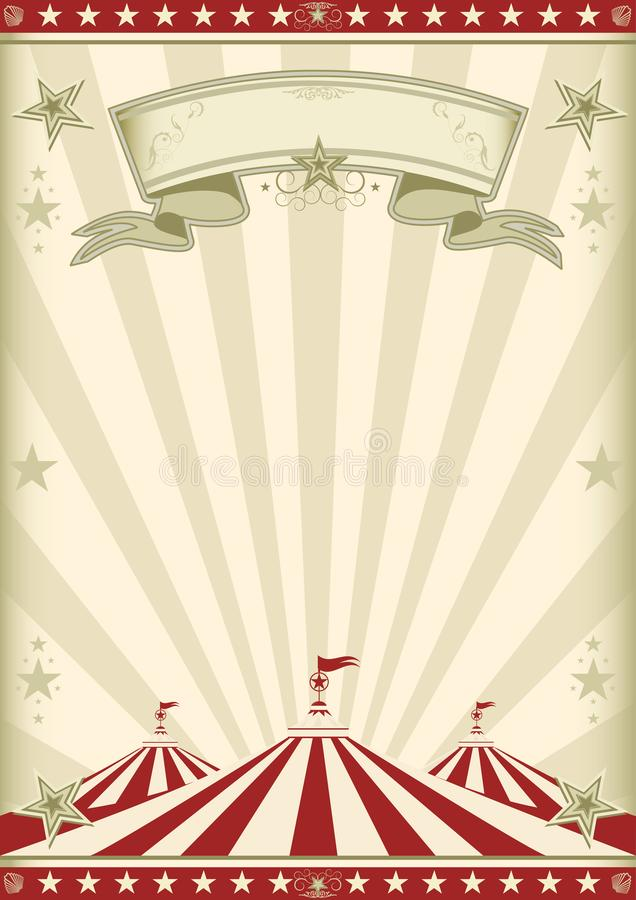 Rainbow red circus vintage royalty free stock photography