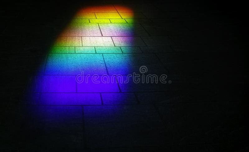 Rainbow reflection stock images