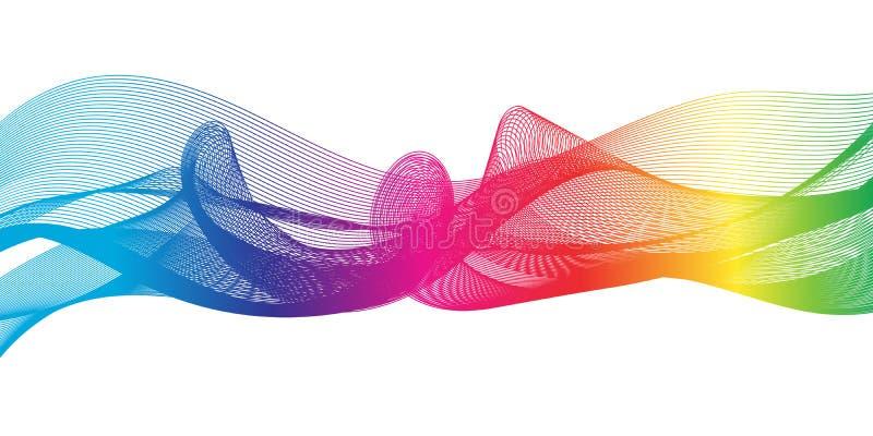 Rainbow ribbon stock illustration