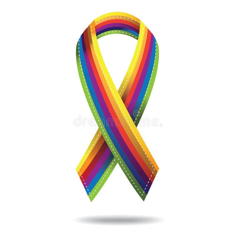 Rainbow ribbon. stock illustration