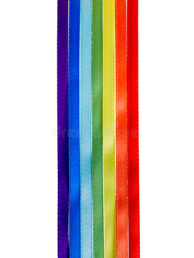 Free Rainbow Ribbons, Gay LGBT Sign Is Isolated On White Background, Stock Photos - 51288183