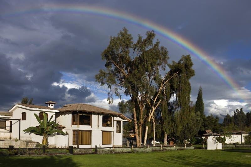 Rainbow - Riobamba - Ecuador royalty free stock image