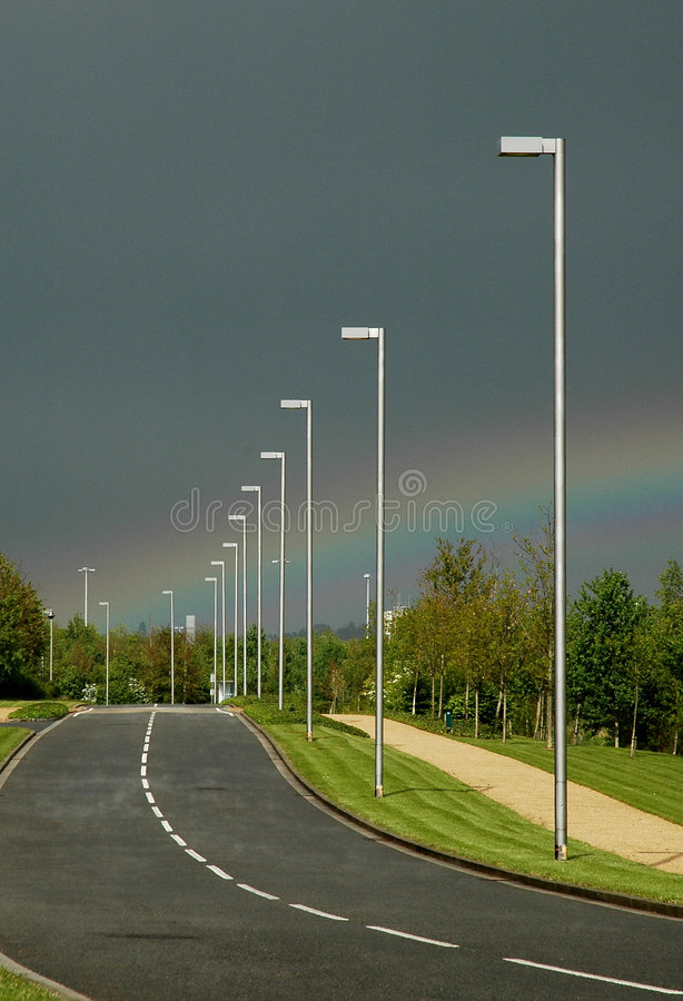 Download Rainbow Road stock image. Image of lamp, weather, park - 120251