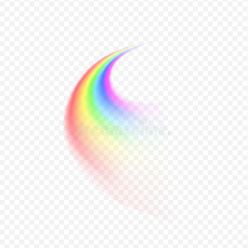 Rainbow road sign. On transparent background stock illustration
