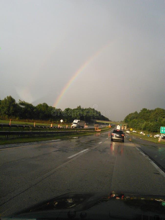 Rainbow road stock image