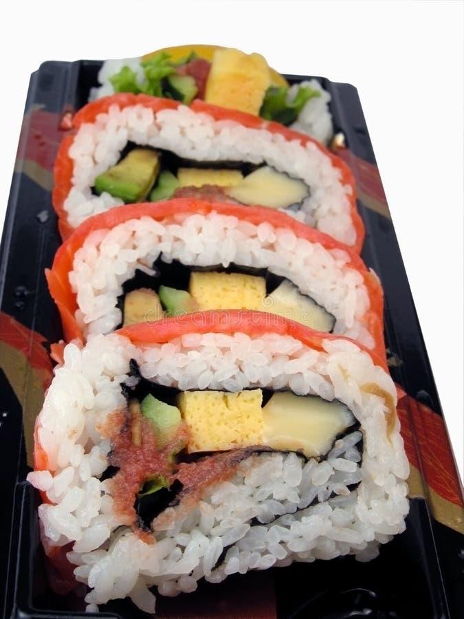 Rainbow rolls stock photos