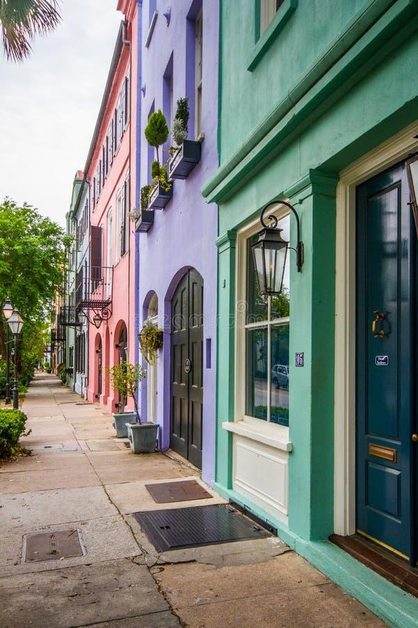 Rainbow Row, Charleston, South Carolina lizenzfreies stockfoto