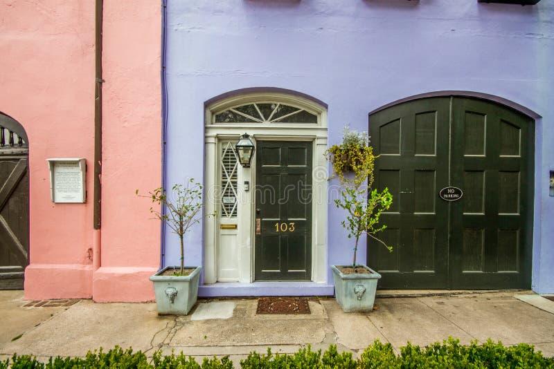 Rainbow Row, Charleston, South Carolina stockfotografie