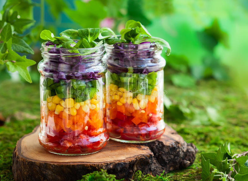 Rainbow salad stock image