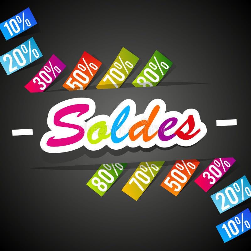 Rainbow Sale stock illustration