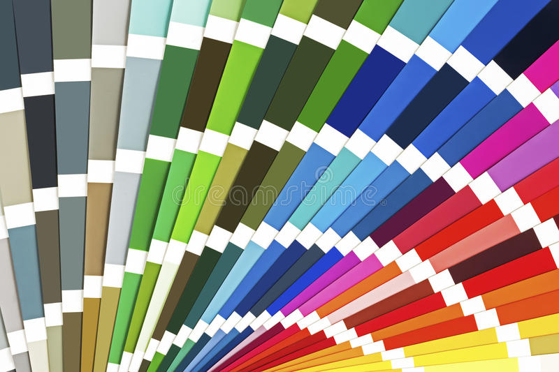 Rainbow Sample Colors Catalogue. Color Guide Palette Background. stock images