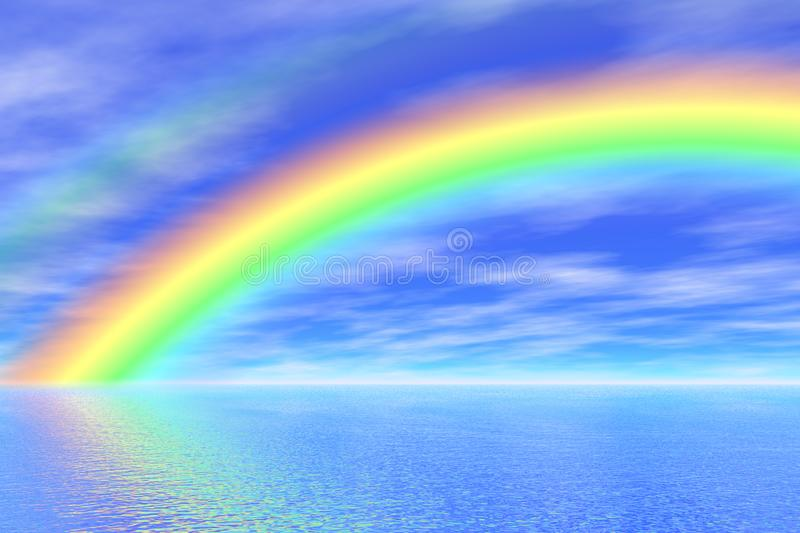 Rainbow in the sea royalty free stock image