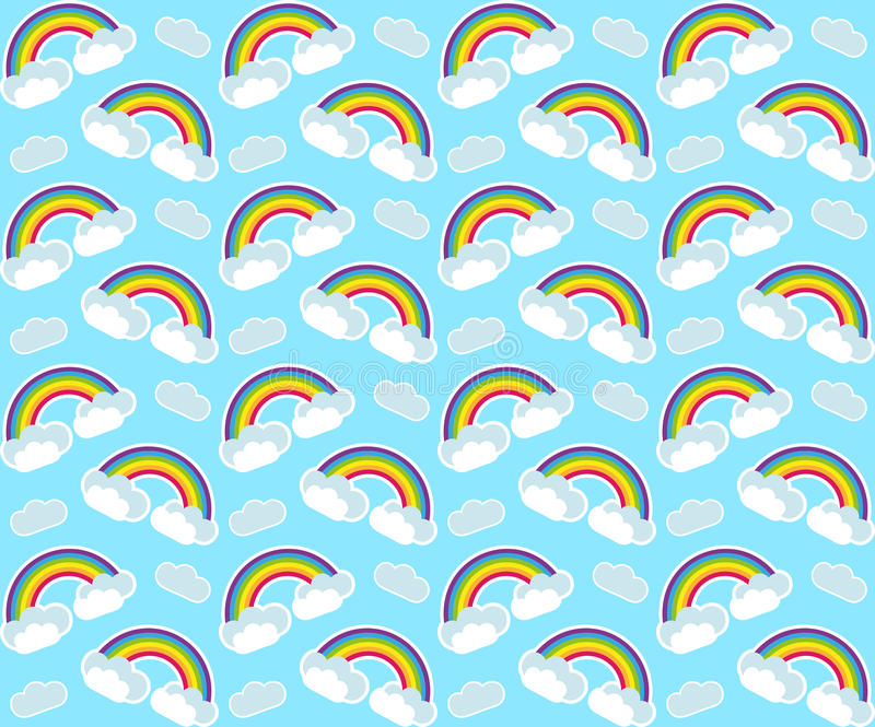 Rainbow seamless pattern. Colorful children`s endless background, repeating texture. Vector illustration. vector illustration