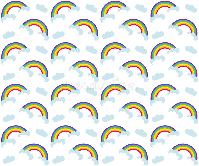 Rainbow seamless pattern. Colorful children`s endless background, repeating texture. Vector illustration. Rainbow seamless pattern. Colorful children`s endless vector illustration