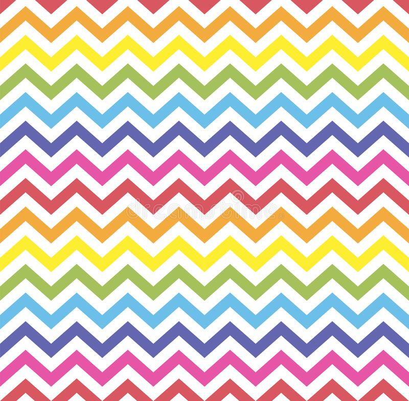 Free Rainbow Seamless Zigzag Pattern, Vector Illustration. Chevron Zigzag Pattern With Colorful Lines. Rainbow Background Royalty Free Stock Photography - 173822357