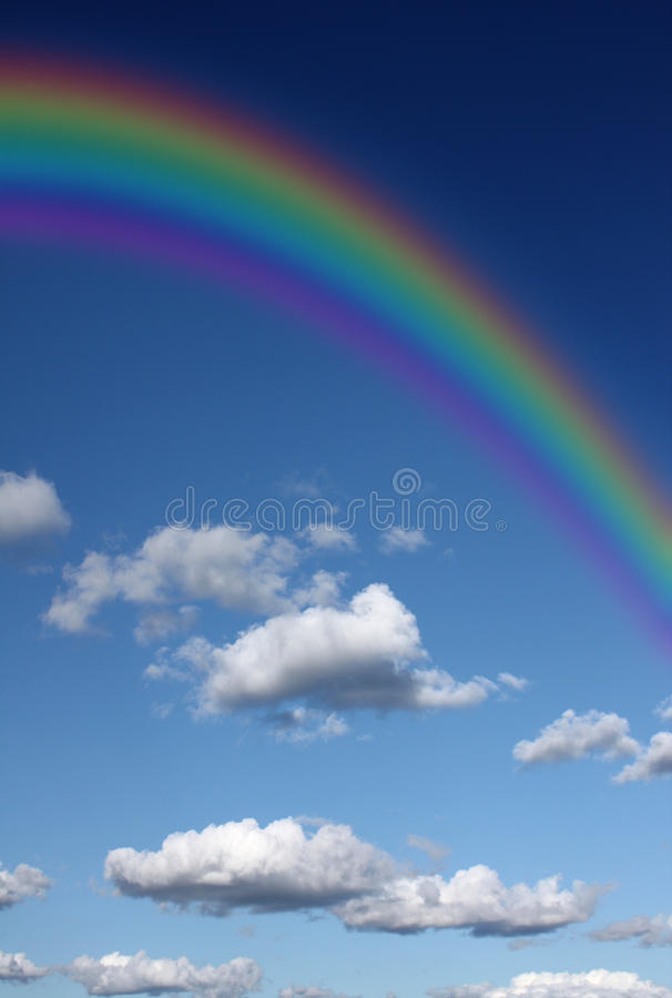 Download Rainbow in the sky stock illustration. Image of rain - 11829154