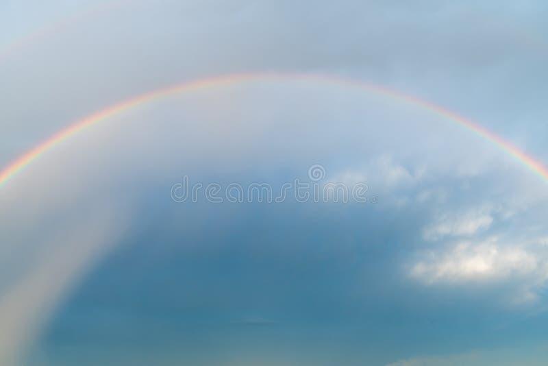 Rainbow in the sky stock image