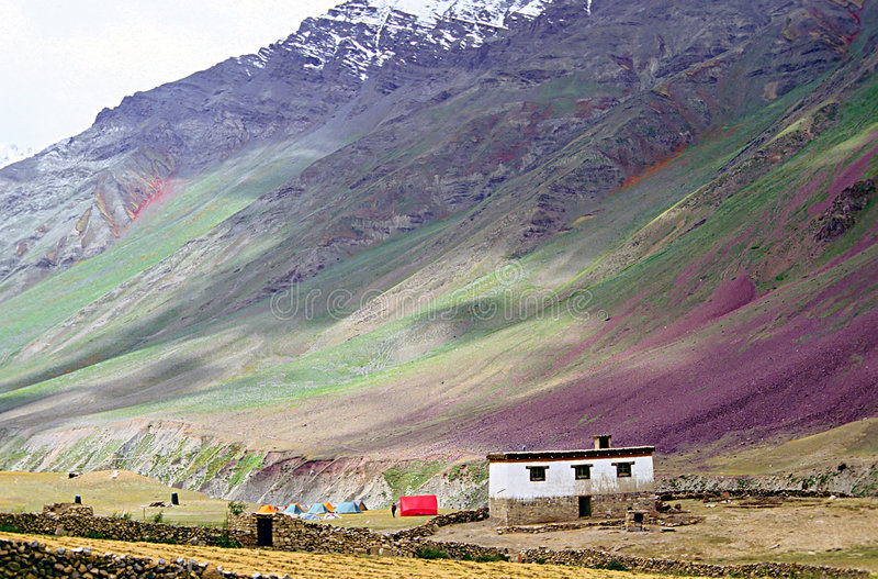 Download Rainbow Slopes, The Spiti Valley Stock Photo - Image: 1722216
