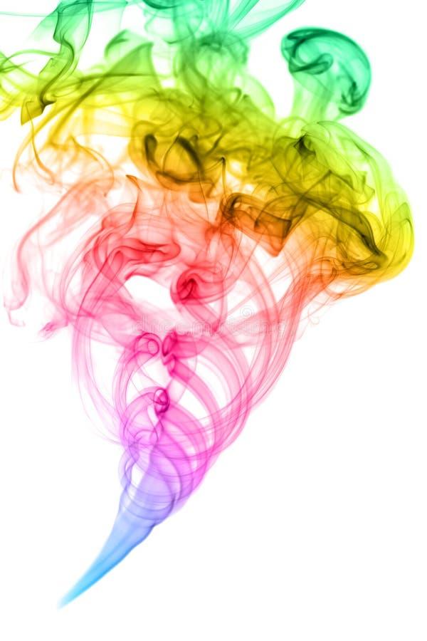 Rainbow smoke royalty free stock photography
