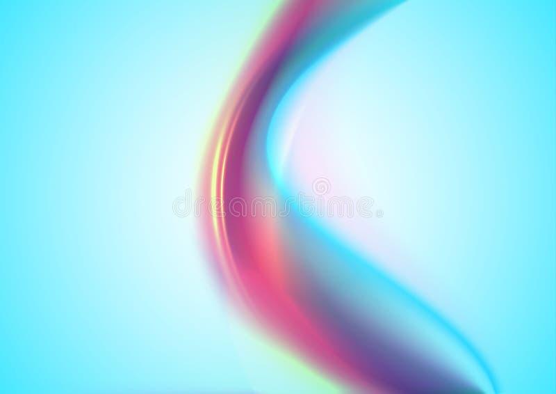 Rainbow smoke on blue background. Rainbow smoke. Abstract soft purple and blue wave background royalty free illustration