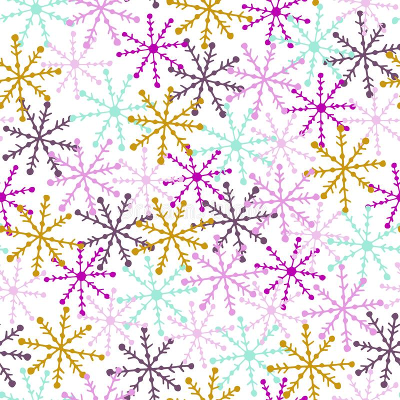 RAINBOW SNOWFLAKE libre illustration