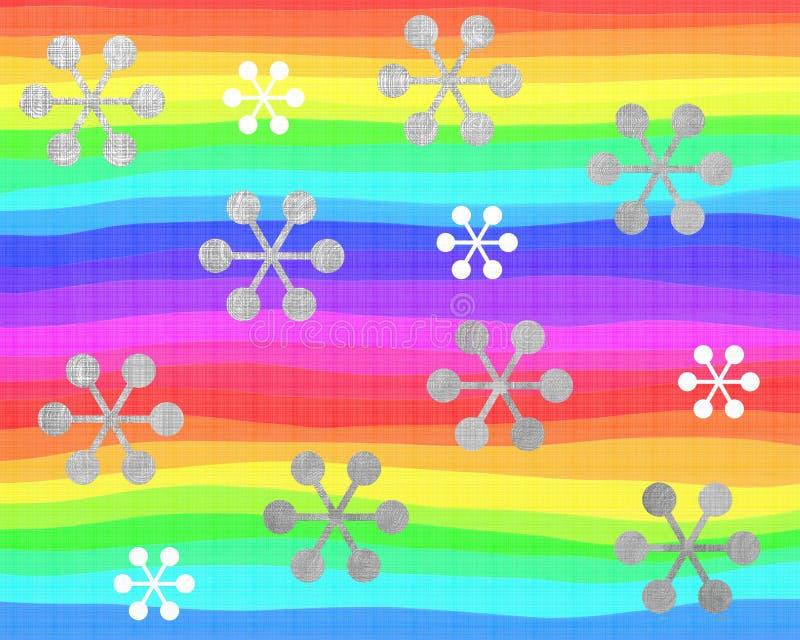 Rainbow snowflakes vector illustration