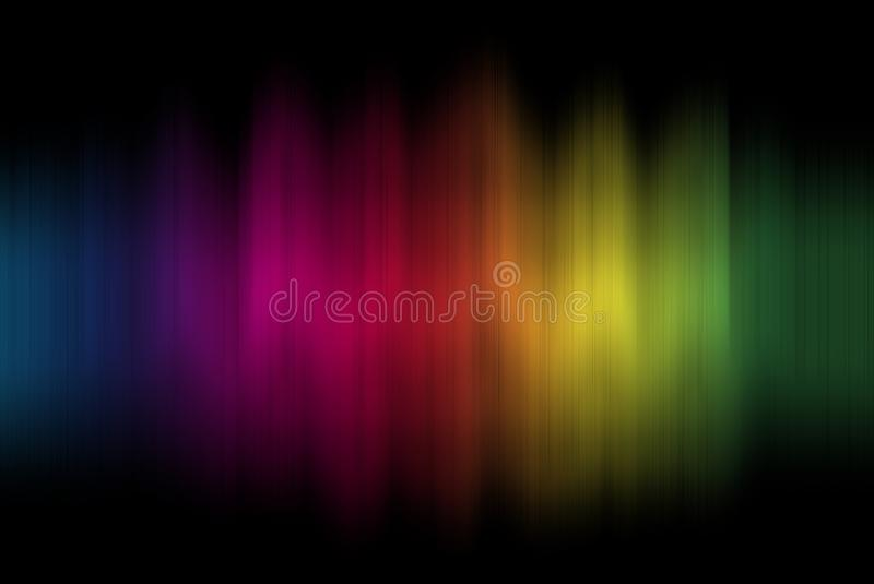 Rainbow sound wave stock image