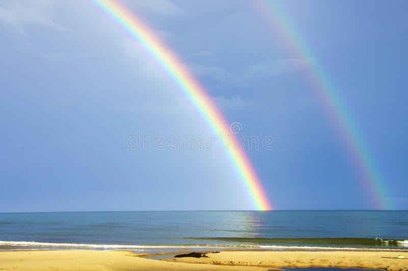 Rainbow spettacolare fotografie stock libere da diritti