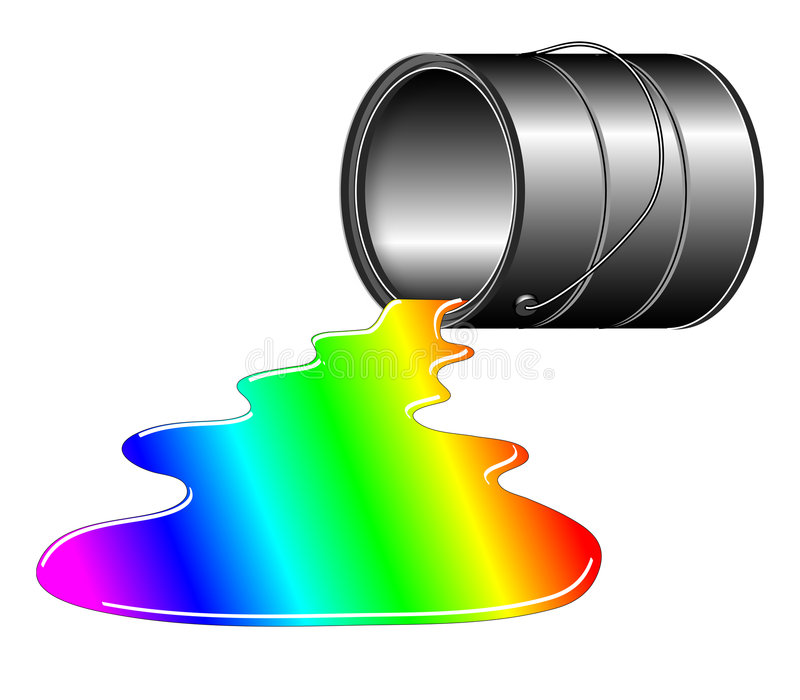Rainbow Spill royalty free illustration