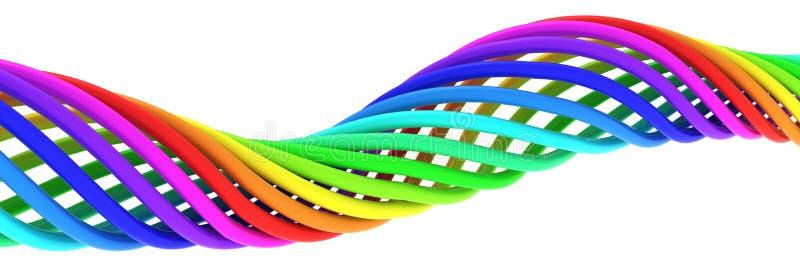 Rainbow spiral royalty free illustration