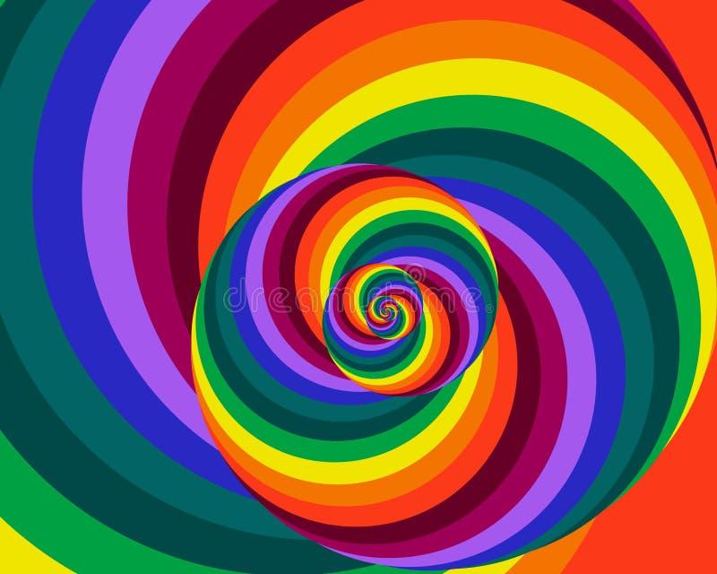 Rainbow Spiral stock illustration