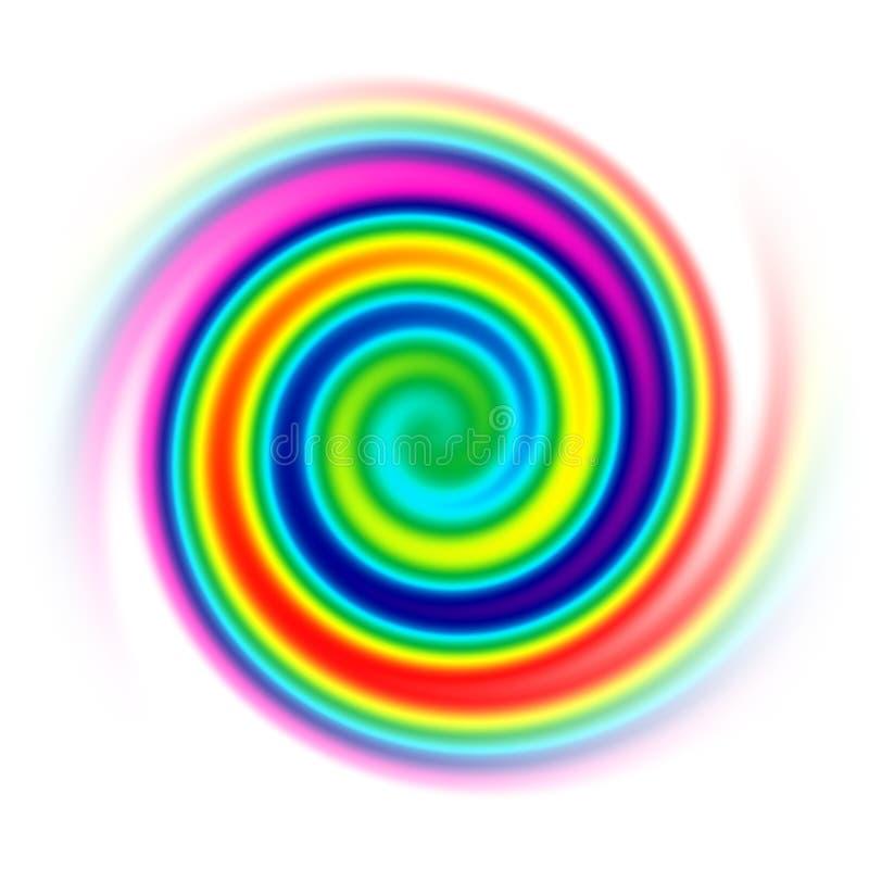 Rainbow spiral vector illustration