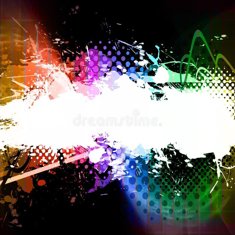 Download Rainbow Splatter Layout Stock Photo - Image: 11835820