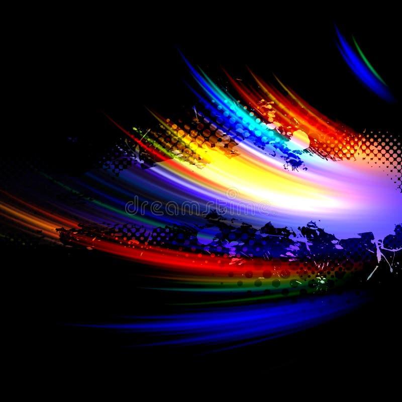 Rainbow Splatter Layout stock illustration