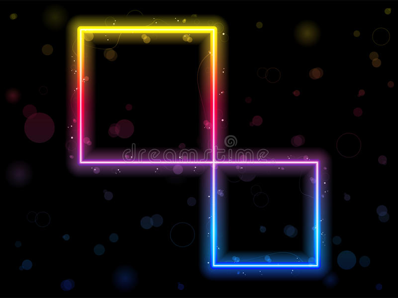 Rainbow Square Border With Sparkles Royalty Free Stock Photo