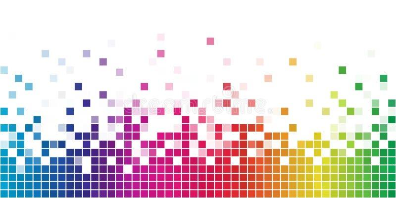 Rainbow square mosaic vector illustration